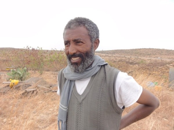 Mr. Alem Abraha from Wukro - one of Ethiopia\'s well known rare white honey producers