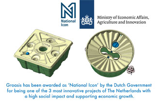 Groasis is National Icon of the Netherlands, chosen by the Dutch government