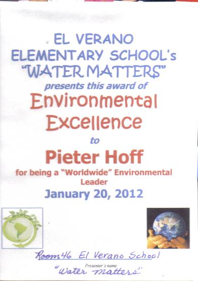 Environmental Excellene Award 2012