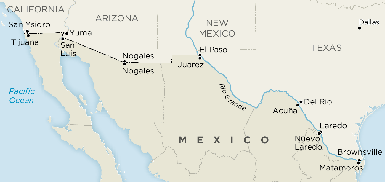 border between mexico and the USA