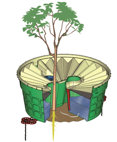Planting trees in dry and eroded areas with less water? Use the inexpensive Waterboxx plant cocoon