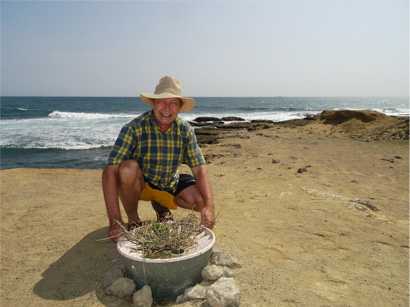 Pieter Hoff plant trees on the most difficult places on earth with his intelligent bucket