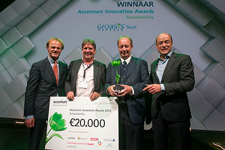 Groasis Ecological Water Saving Technology as the winner of the Accenture Innovation Award 2014
