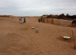 14 - October 2014 - The first Groasis Waterboxxes arrive in the Sahara in Morocco