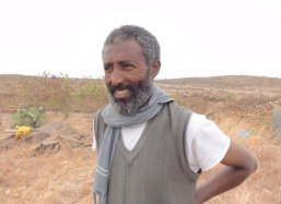 Mr. Alem Abraha from Wukro - one of Ethiopia's well known rare white honey producers
