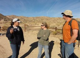 Volunteer  Ranger April Sall and Scientific Director Pete A\'Hearn