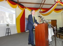 Mr Jaco Mebius, Senior Policy Advisor for Environment, Water and Sanitation from the Dutch Nairobi Embassy speeches