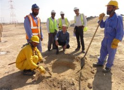 The first planting hole of the Sohar experiment is ready