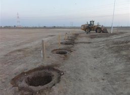 Ready to plant in the desert area of the Sohar Free Zone Oman