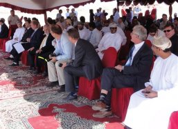 The opening ceremony of the first Groasis Waterboxx plantcocoon® experiment in the Middle East at Sohar Free Zone