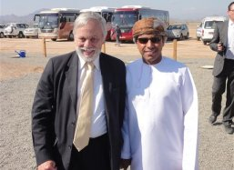 Port of Sohar CEO Mr Jan Meijer and Mr Abdullah Massoudi his driver