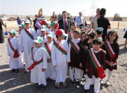 Ambassador Mr Stefan van Wersch with the young Omani