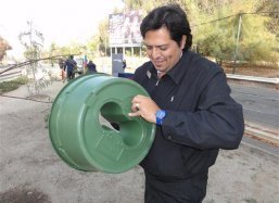 Mr Humberto Salinas CEO PiPartner Group distributor of the Groasis Waterboxx plantcocoon® in Chile