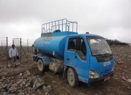 Water is extremely scarse in this area we bring it by truck that is why the Groasis Technology is so interesting